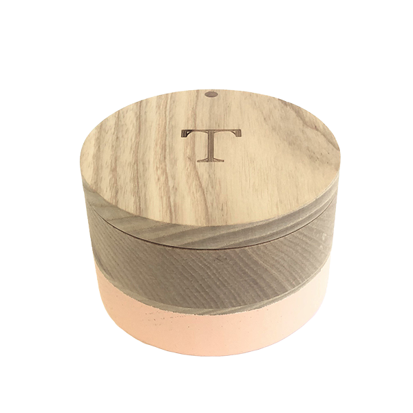 Dipped wood trinket box