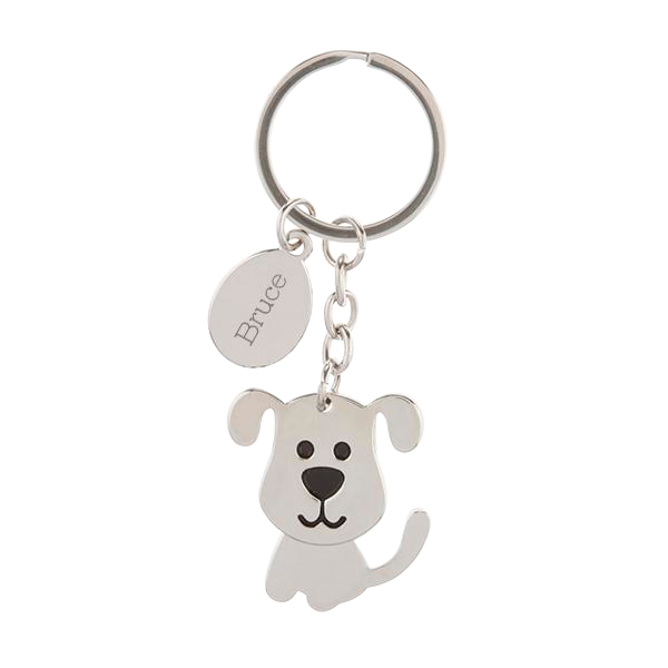 Dog Keychain with Moving Head
