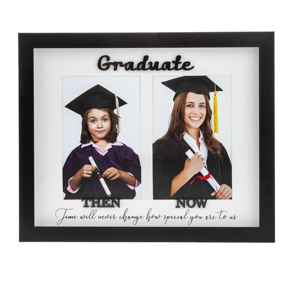 Double 4x6 Then & Now Graduation Frame