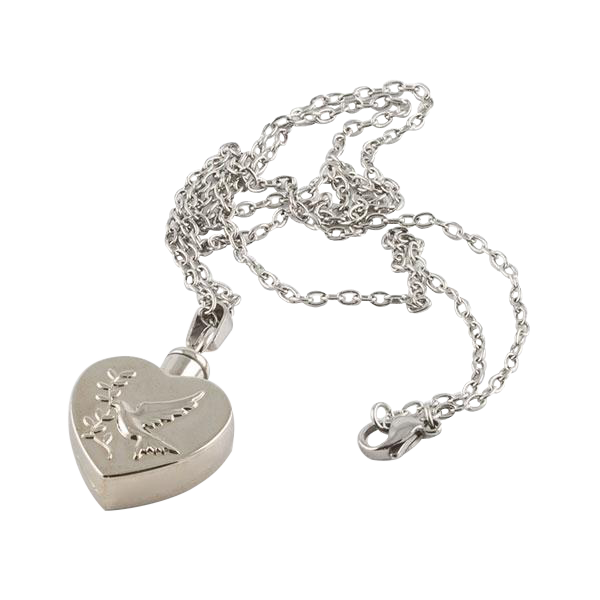 Dove Heart Ash Pendant