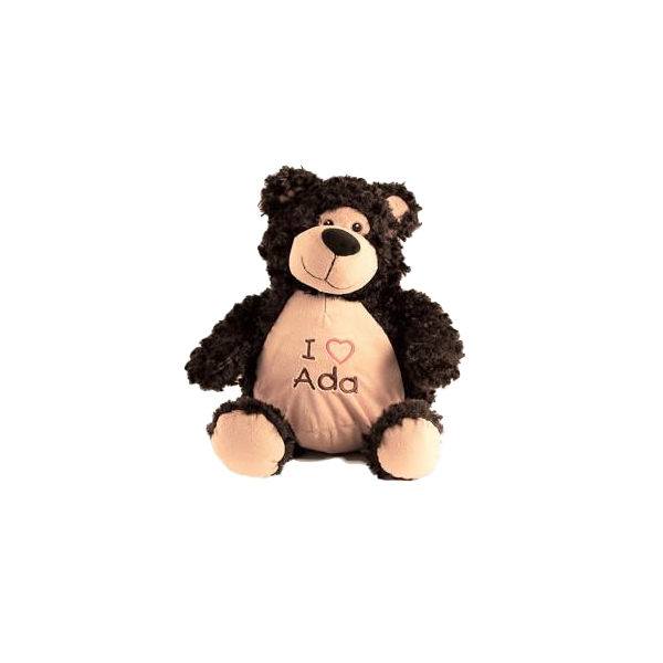 Embroiderable Billy Black Bear
