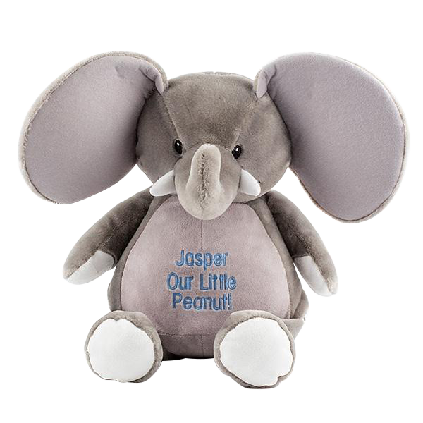 Embroiderable Elford Elephant - Grey