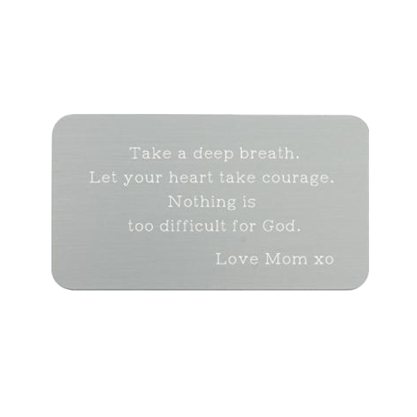 "Engravable Wallet Card - 2"" x 3"""