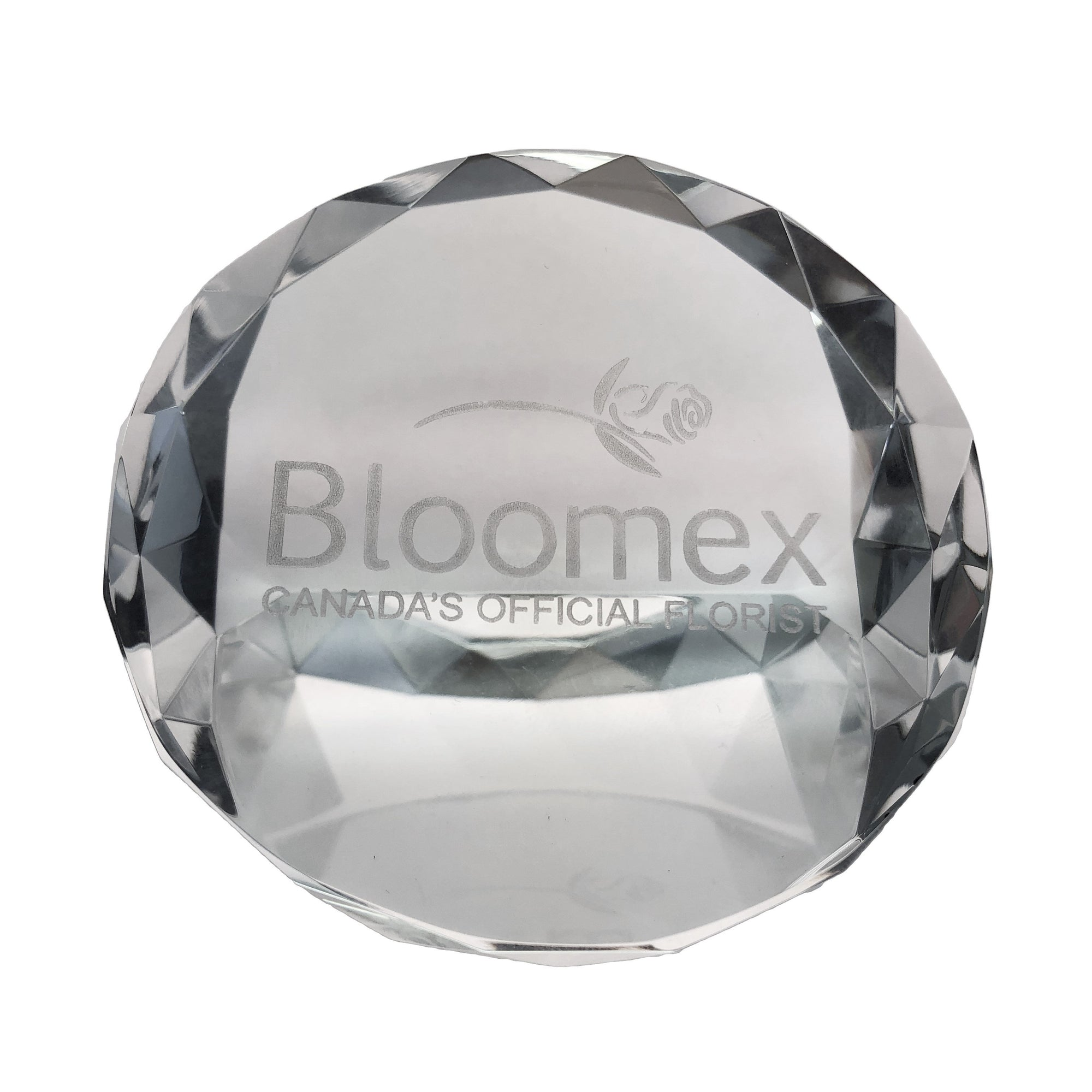 Faceted Crystal paperweight
