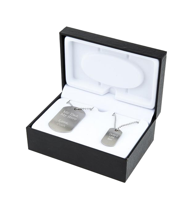 Father / Son Dog Tag Set in Box
