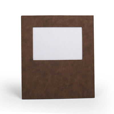 Faux Leather Frame - Bay Brown