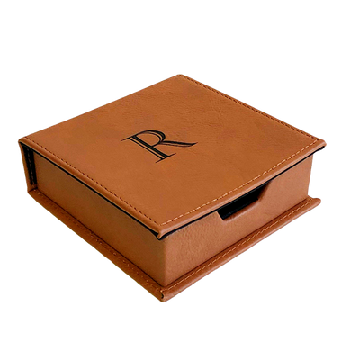 Faux Leather Trinket Box - Chestnut