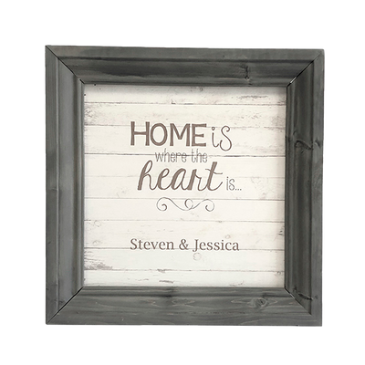 "Faux wood wall sign 11"" x 11"""