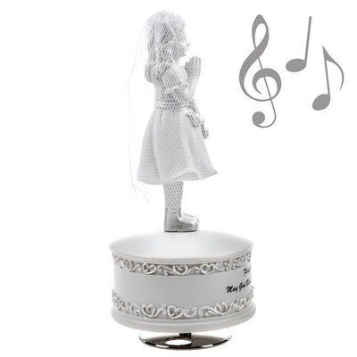 First Communion Girl Musical Figurine