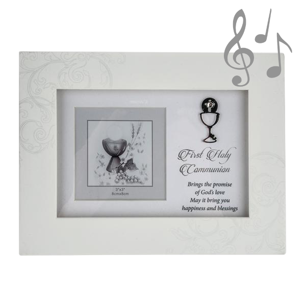 First Holy Communion White Music Box