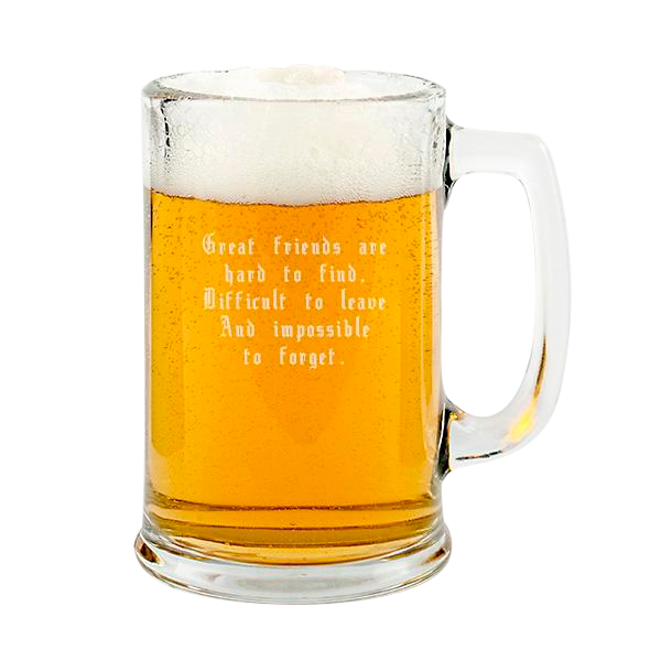 Handled Beer Mug Stein 15oz
