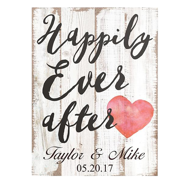 Happily Ever After Wall Art Plaque