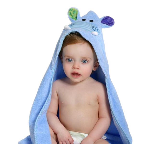 Hippo Hooded Baby Towel