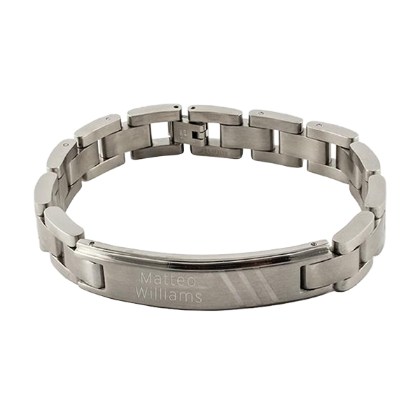 Ident Mens Triple Dash Design Stainless