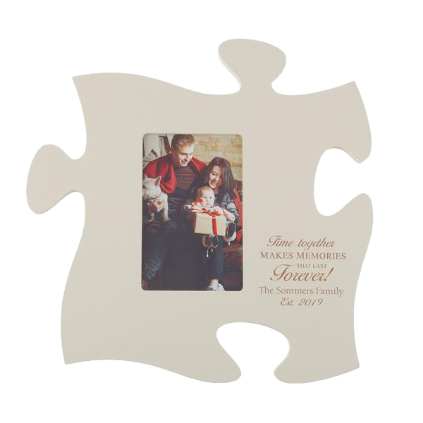 Ivory Puzzle Piece Photo Frame