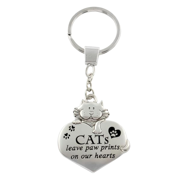 "Keychain ""CATs leave paw prints on our hearts"""