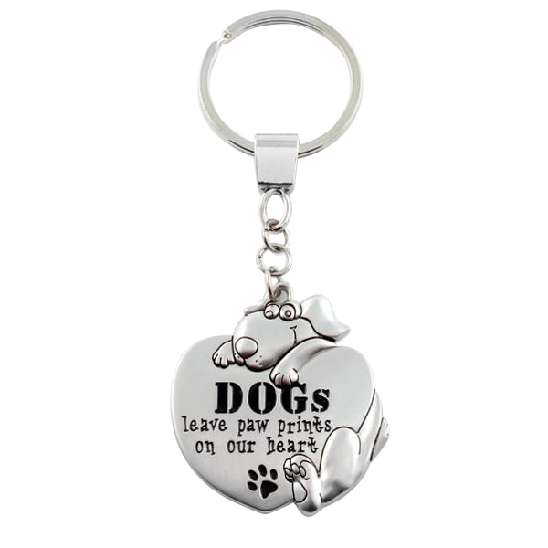 "Keychain ""DOGs leave paw prints on our hearts"""