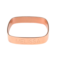 Ladies Small Square Bangle - Rose Gold