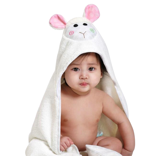 Lamb Hooded Baby Towel