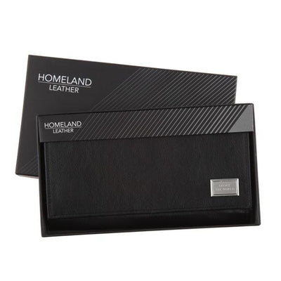 Leather Travel Wallet RFID - Black