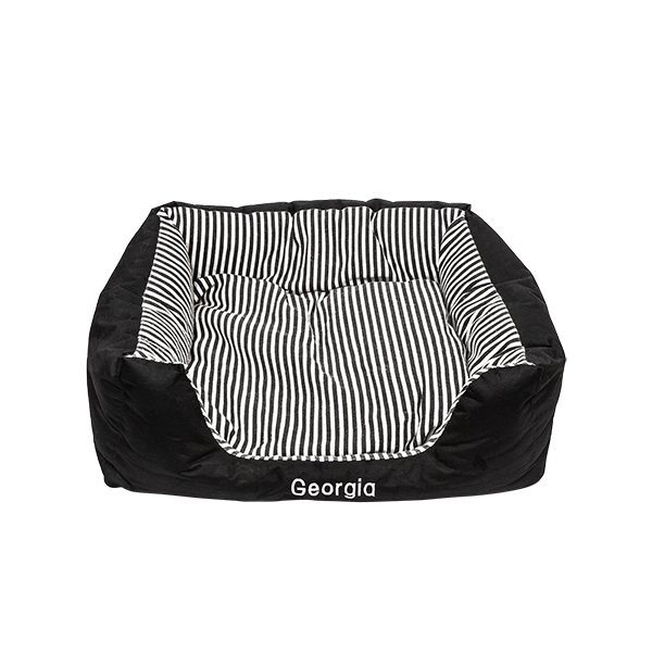 Medium Pet Bed Black Stripes