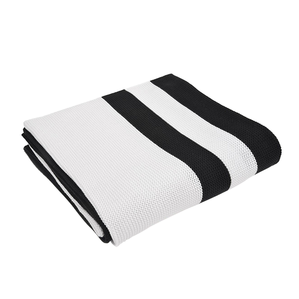 Multi Stripe Black & White Throw