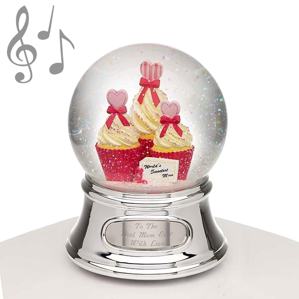 Musical Water Globe - Mom and Cupcakes