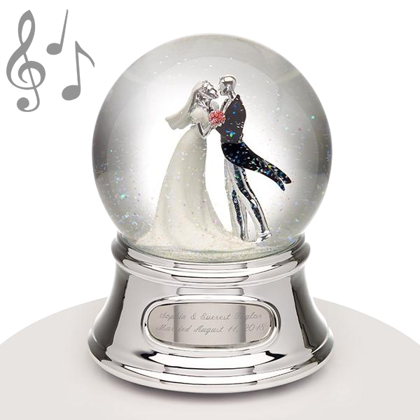 Musical Water Globe - Wedding Couple