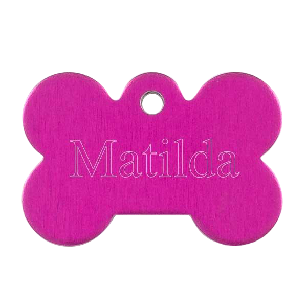 Pink Bone Pet Tag