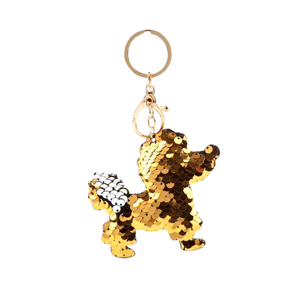Poodle Sparkle Keychain