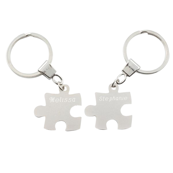 Puzzle Piece Keychain Set