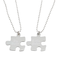 Puzzle Piece Necklace Set of Two
