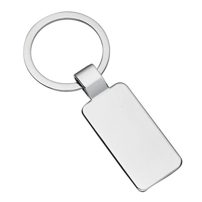 Rectangle Engravable Blank Keychain