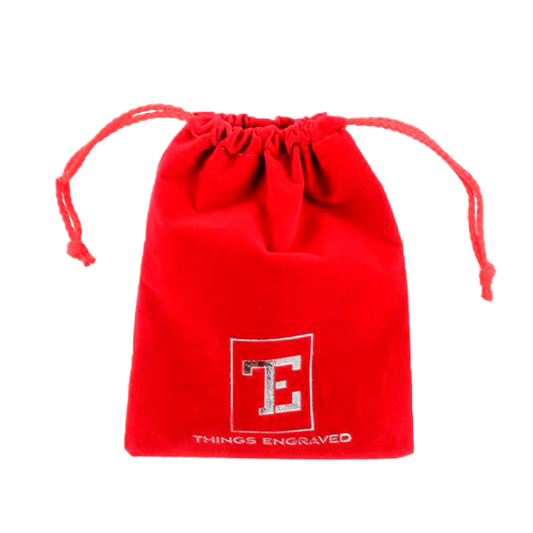 Red Velvet Gift Pouch / Gift Bag with Logo