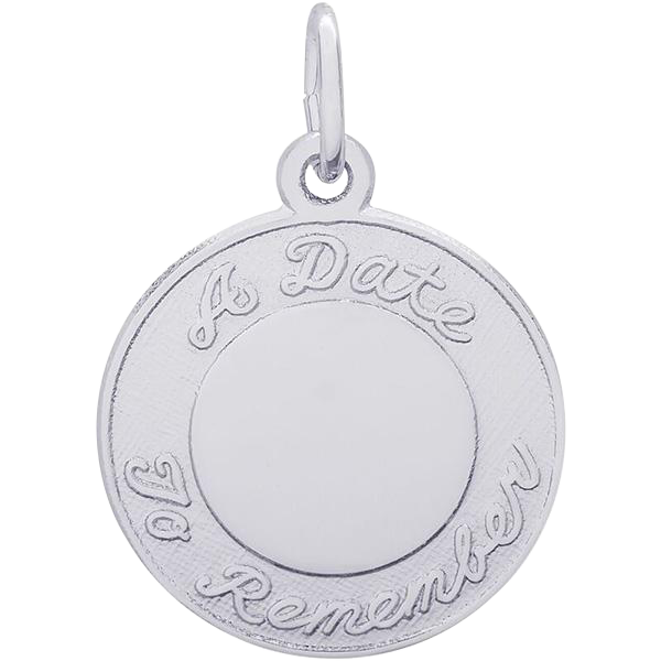 "Rembrandt Sterling ""A Date To Remember"" Charm"