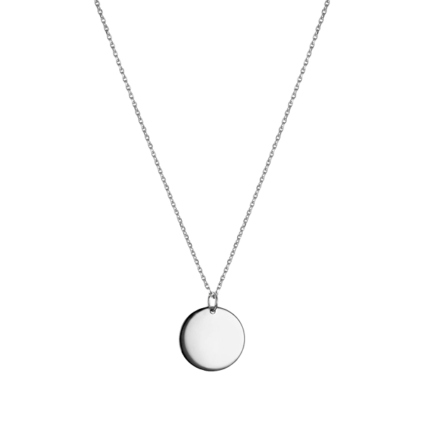 Round Pendant necklace Silver