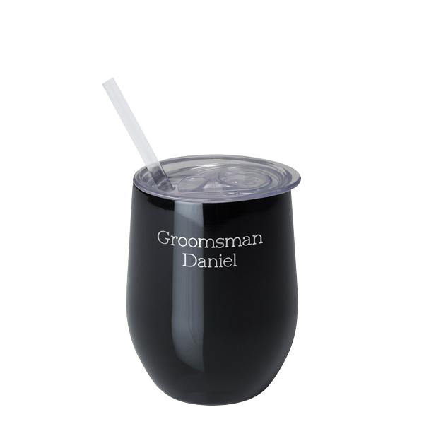 SWIG - 12oz Wine Cup Black