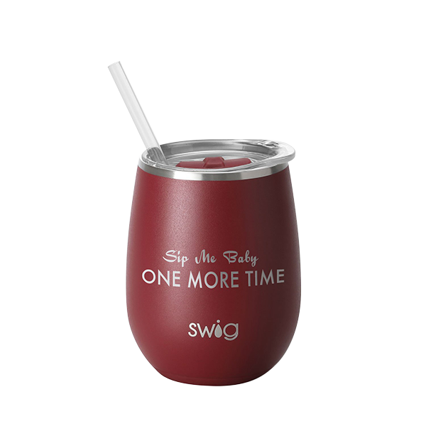 SWIG 14oz Wine Cup Matte Crimson Finish