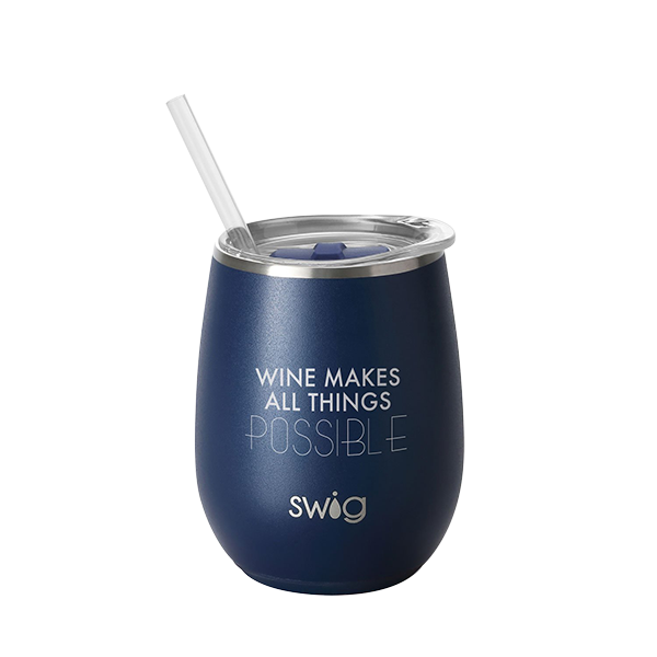 SWIG 14oz Wine Cup Matte Navy Finish