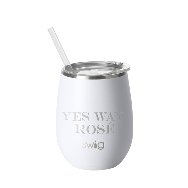 SWIG 14oz Wine Cup Matte White Finish