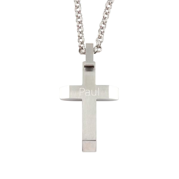 "S/S Angled Cross with 24"" Chain"