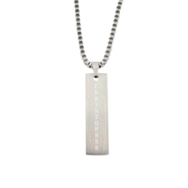 S/S Rectangular Pendant with Chain