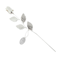Silver-Plated White Rose