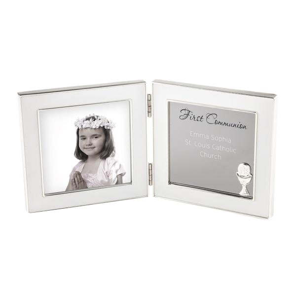Silver 4x4 Double Hinge 1st Communion Frame