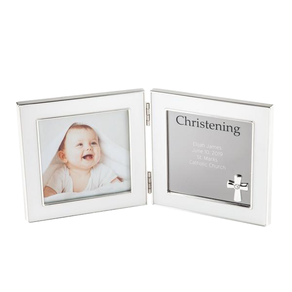 Silver 4x4 Double Hinged Christening Frame