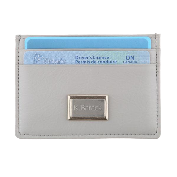 Slim Credit Card Leather RFID Wallet - Platinum Grey