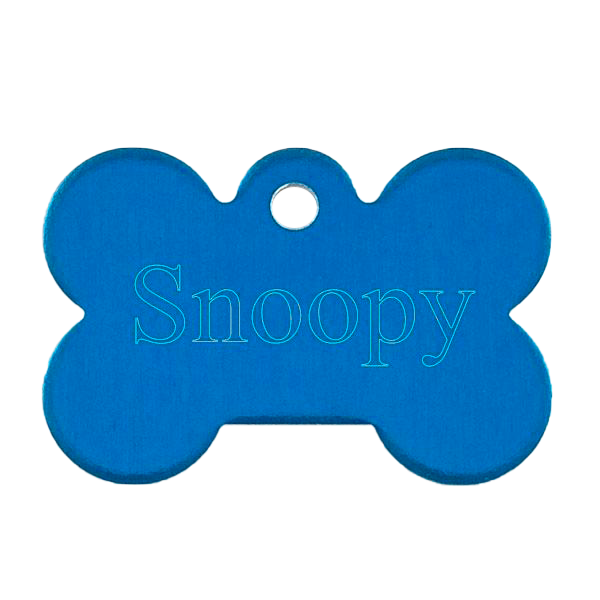 Small Blue Bone Pet Tag