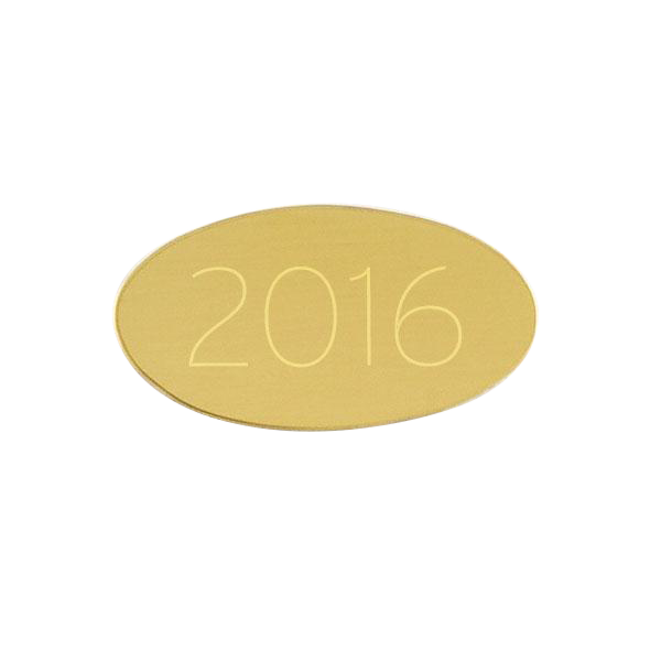 "Small Brass Oval Plate 1 3/16"" x 5/8"""