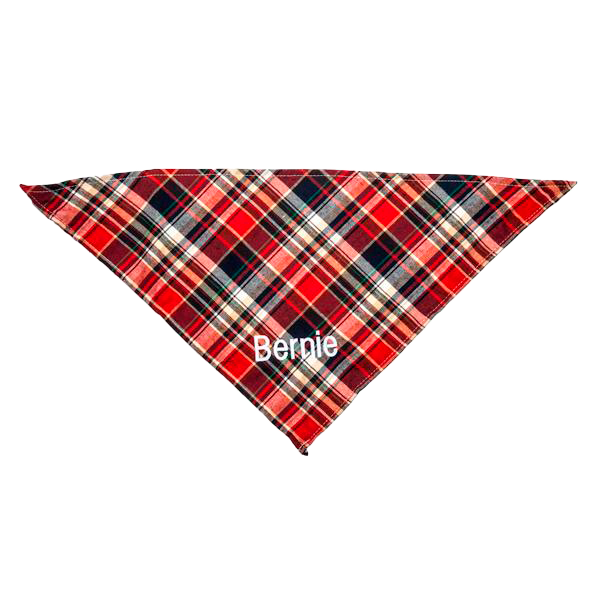 Small Dog Bandana - Blue and Red Plaid