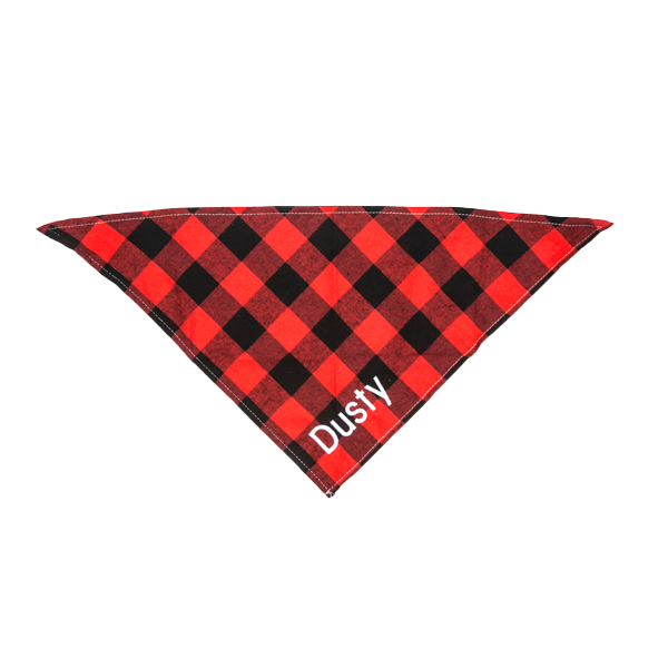Small Dog Bandana - Buffalo Check Plaid